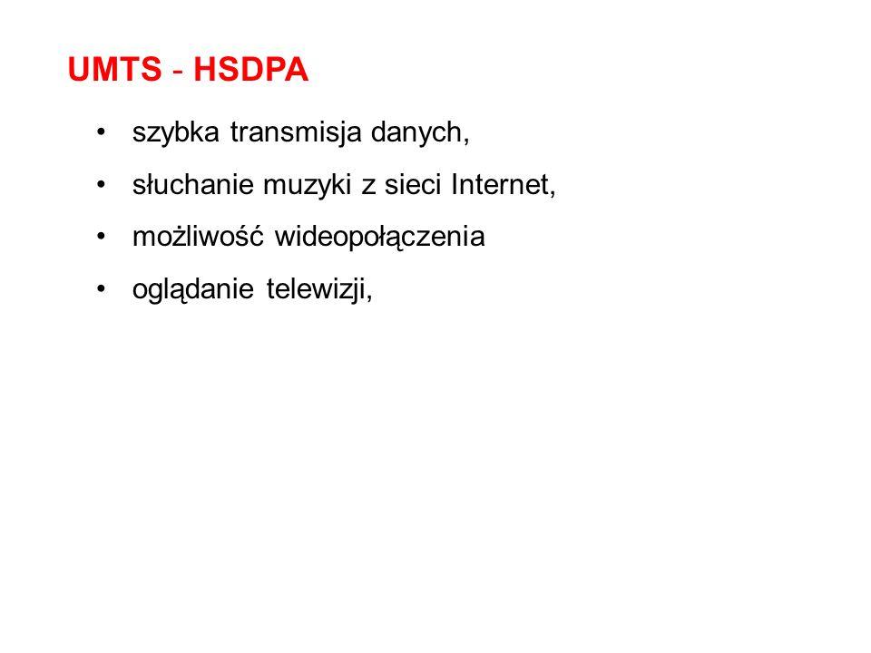 UMTS - HSDPA szybka transmisja danych,