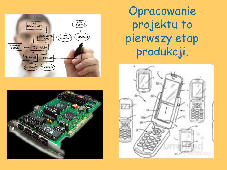 Opracowanie projektu to pierwszy etap produkcji.