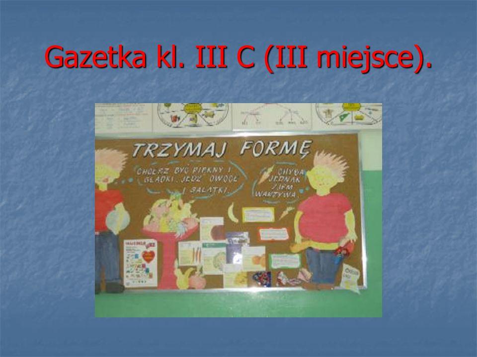 Gazetka kl. III C (III miejsce).