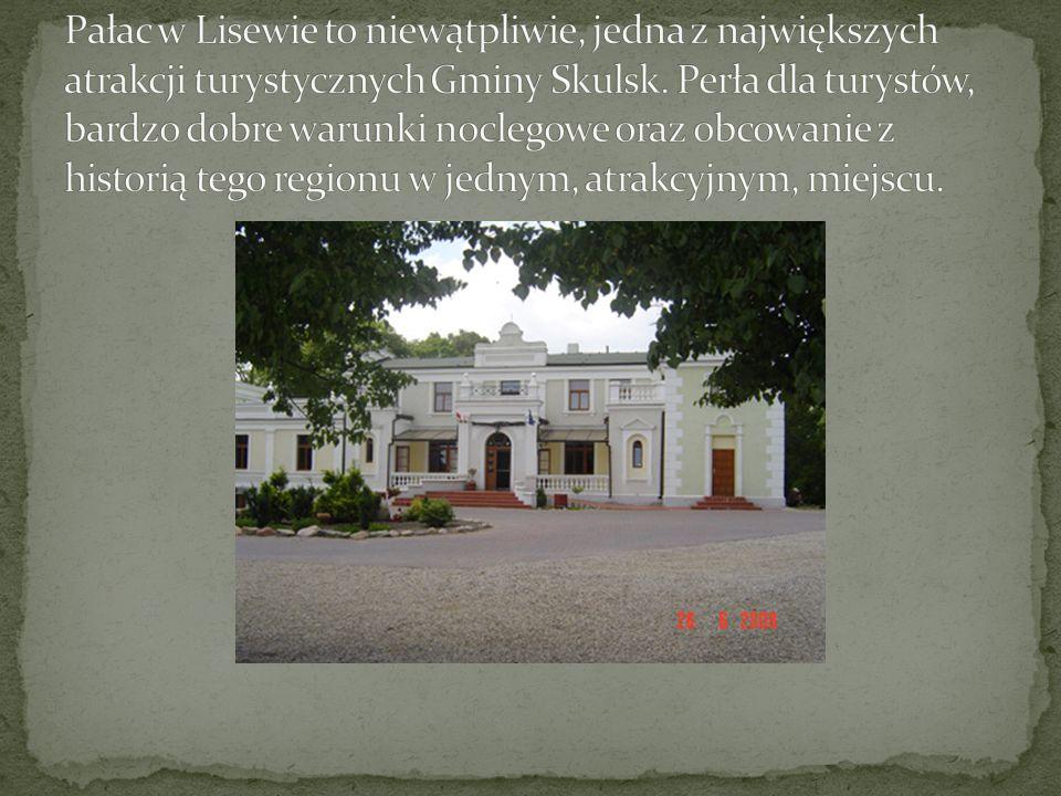 Pałac w Lisewie to niewątpliwie, jedna z największych atrakcji turystycznych Gminy Skulsk.