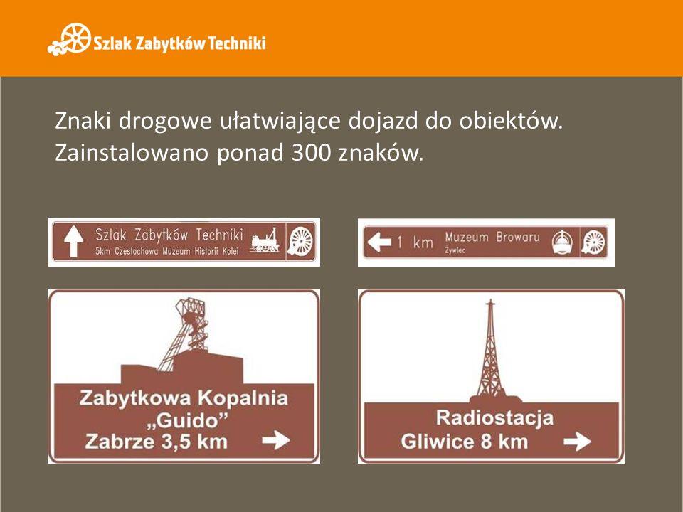 Znaki drogowe ułatwiające dojazd do obiektów