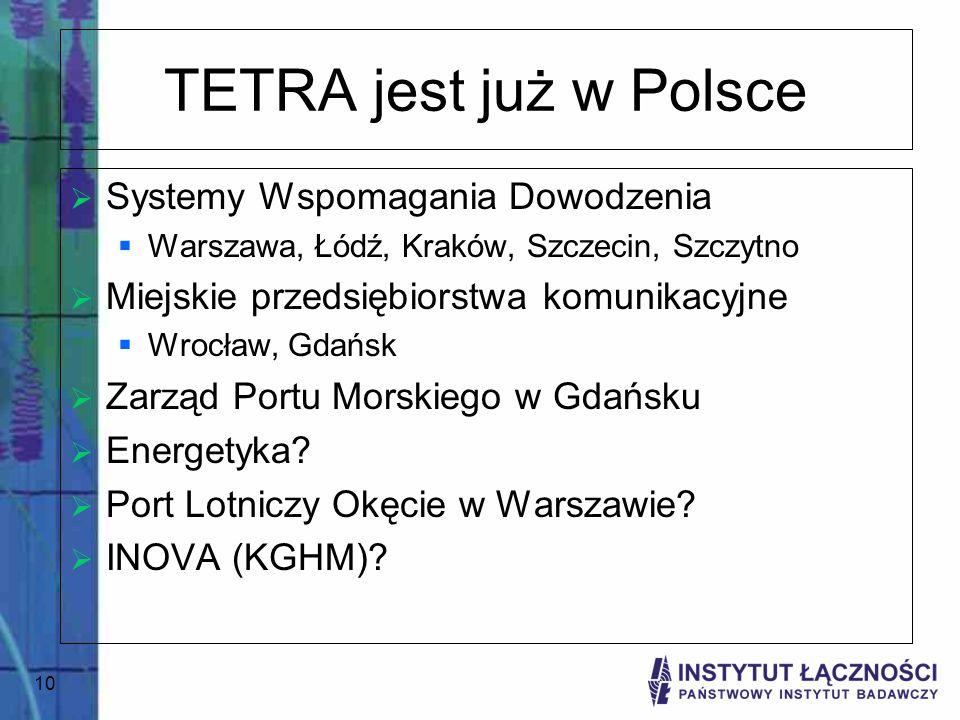 TETRA jest już w Polsce Systemy Wspomagania Dowodzenia