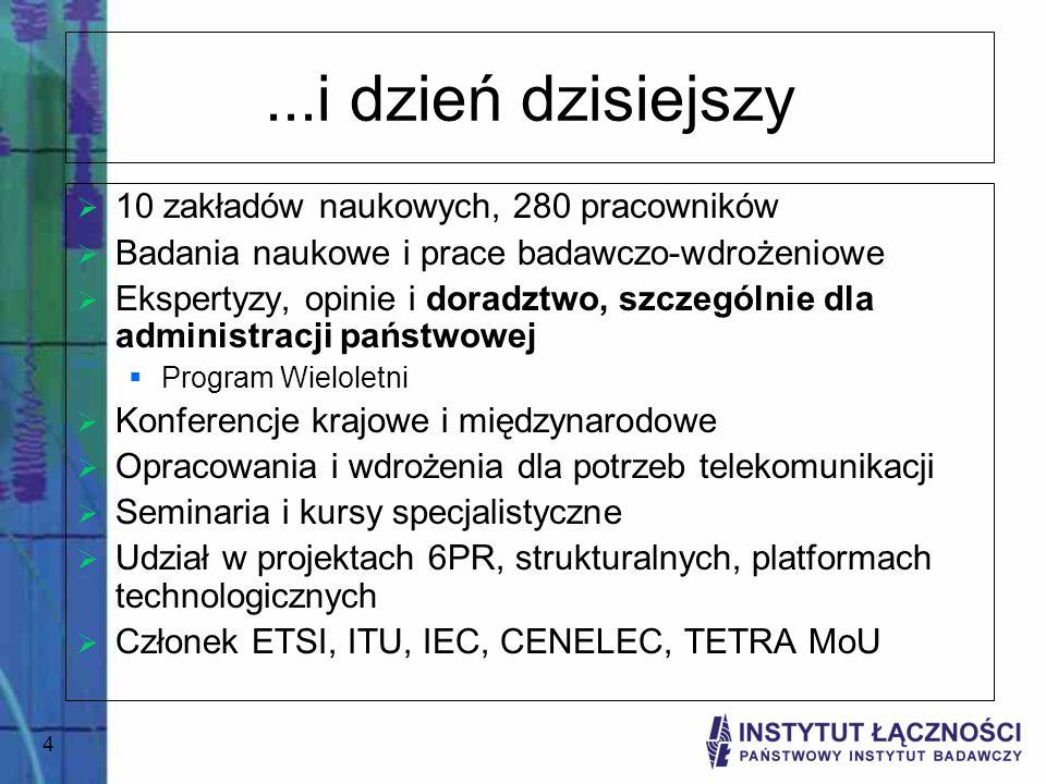 ...i dzień dzisiejszy 10 zakładów naukowych, 280 pracowników