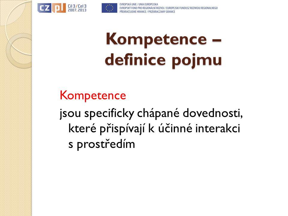 Kompetence – definice pojmu