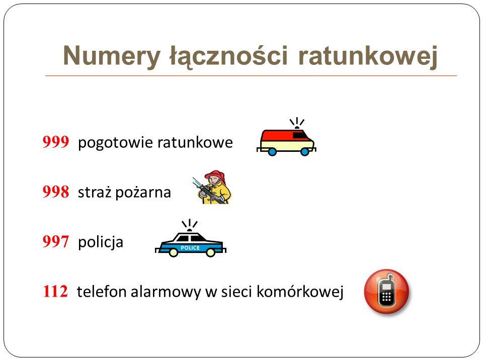 Numery łączności ratunkowej