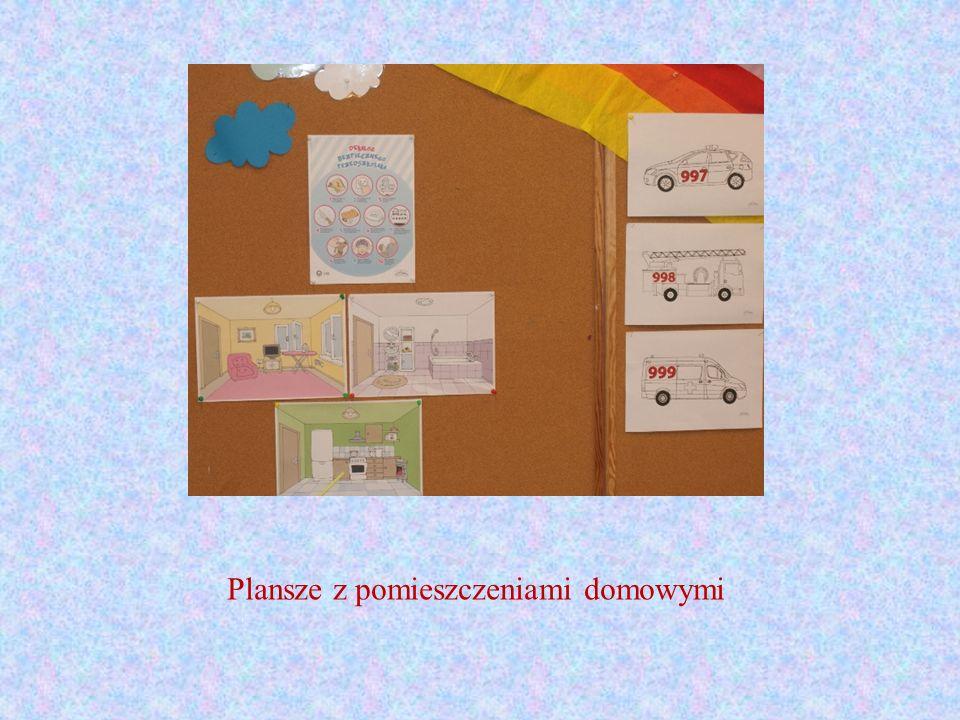 Plansze z pomieszczeniami domowymi