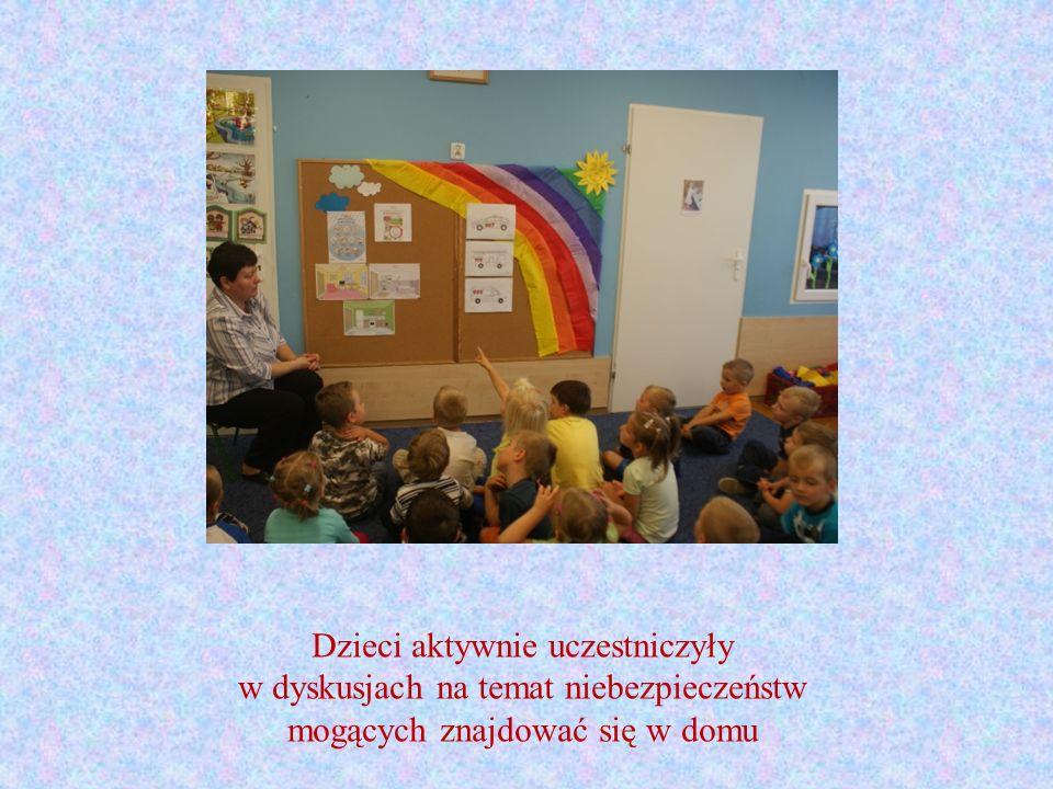 Dzieci aktywnie uczestniczyły w dyskusjach na temat niebezpieczeństw mogących znajdować się w domu