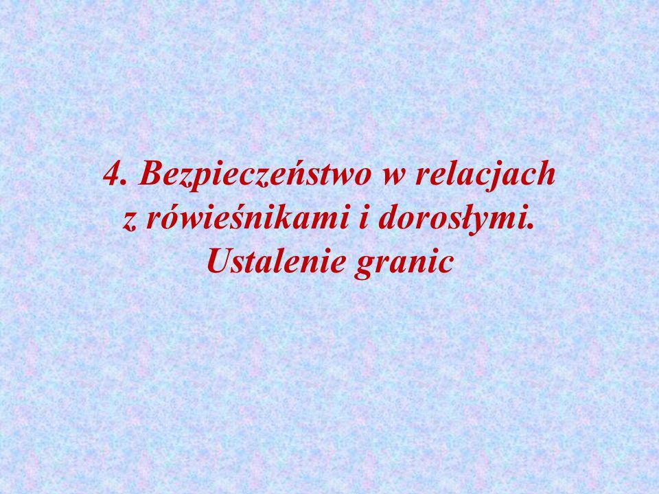 4. Bezpieczeństwo w relacjach z rówieśnikami i dorosłymi