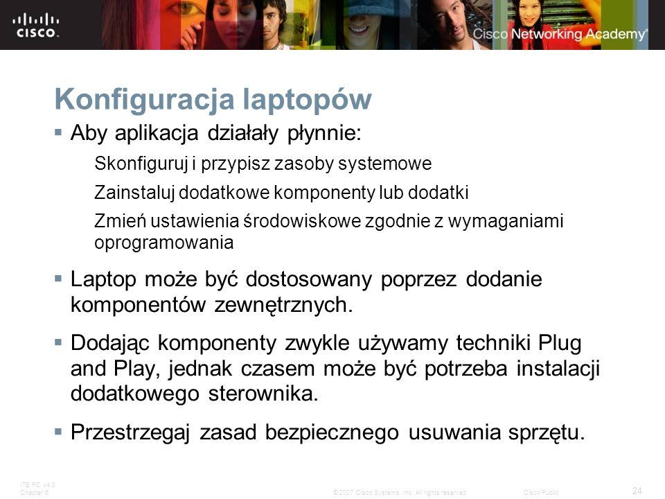 Konfiguracja laptopów