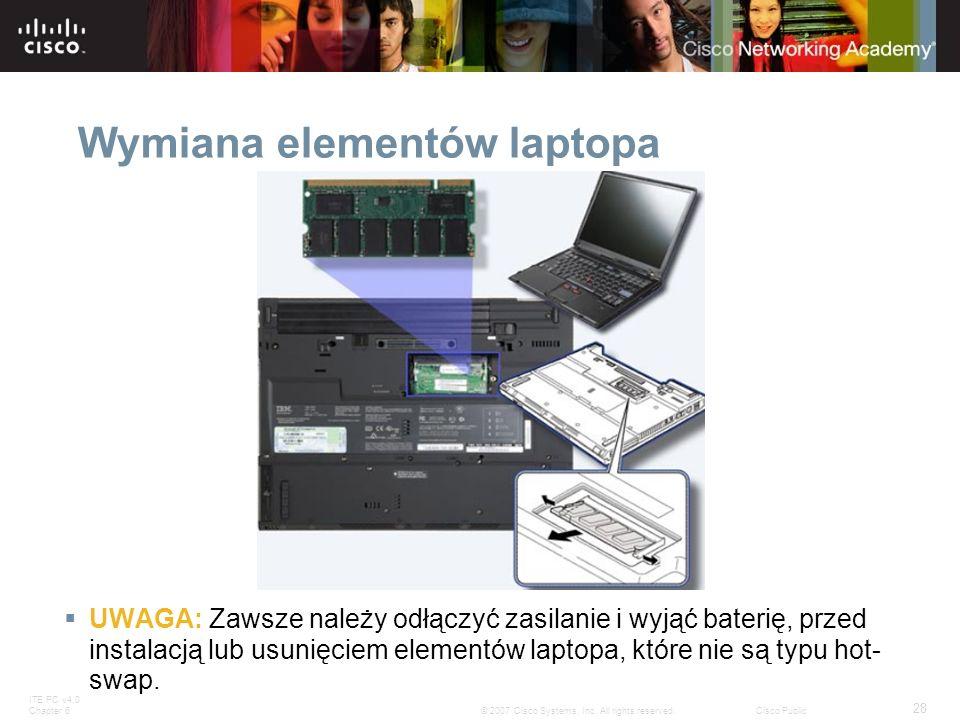 Wymiana elementów laptopa