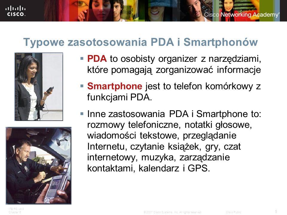 Typowe zasotosowania PDA i Smartphonów
