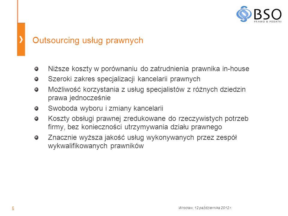 Outsourcing usług prawnych