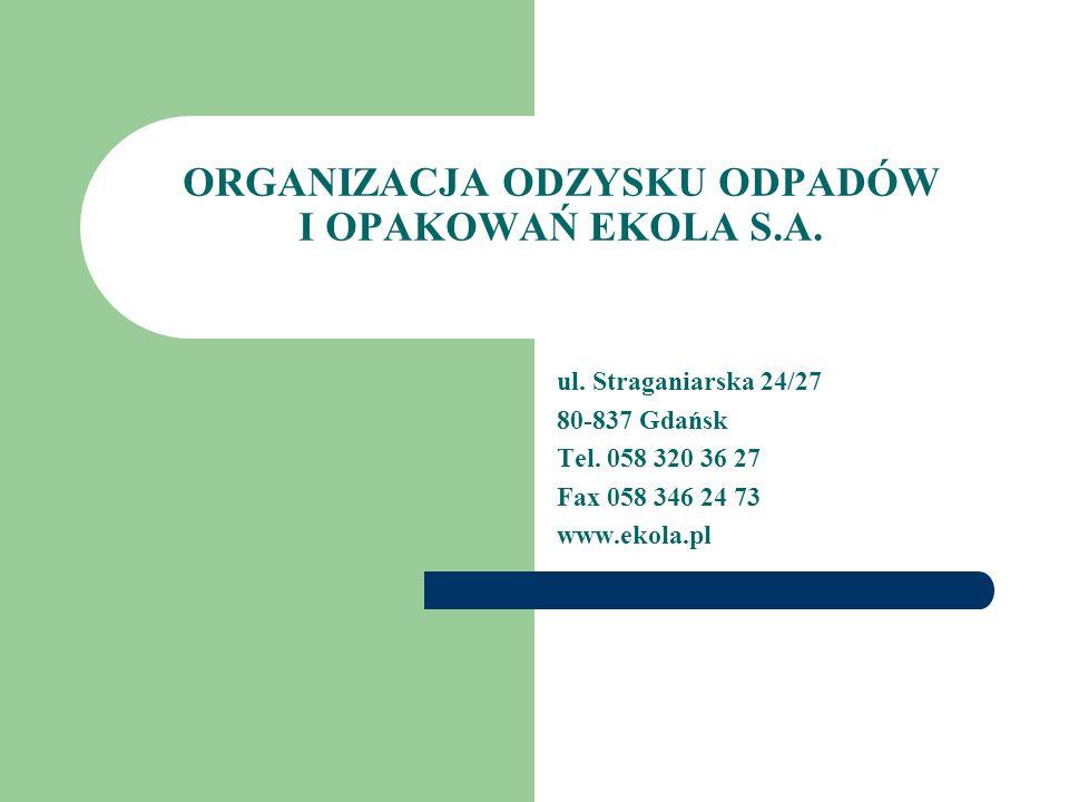 ORGANIZACJA ODZYSKU ODPADÓW I OPAKOWAŃ EKOLA S.A.