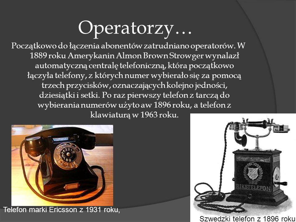 Operatorzy…
