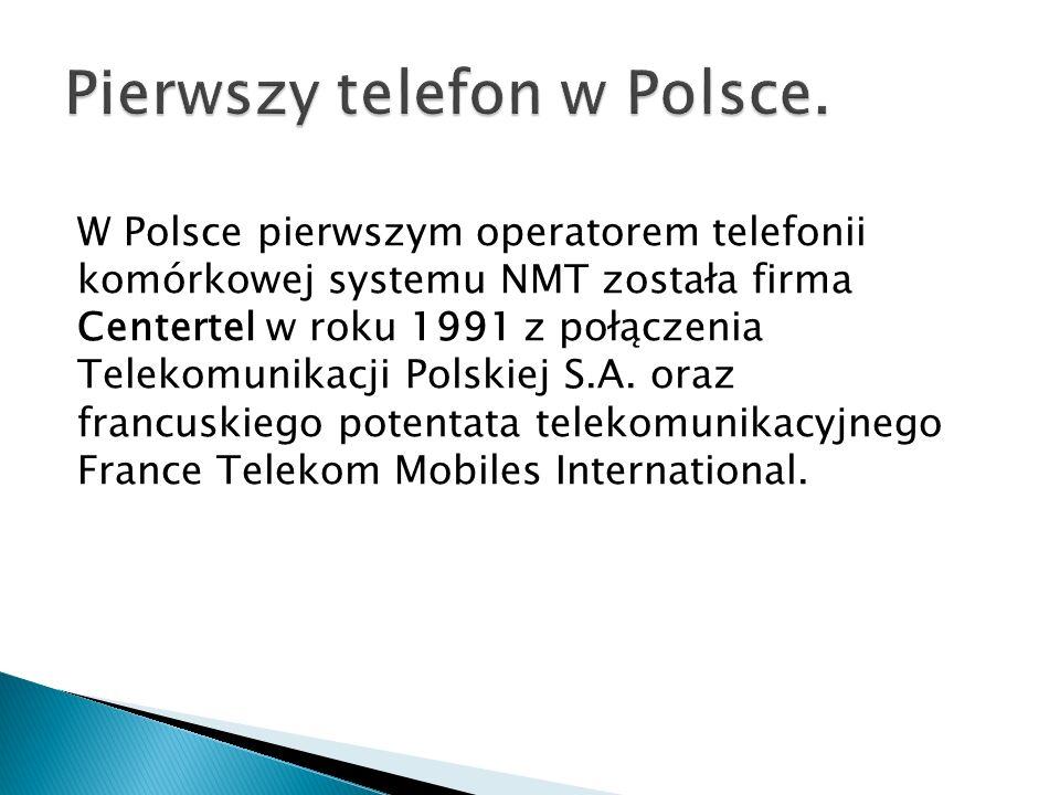 Pierwszy telefon w Polsce.