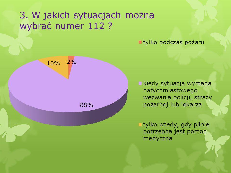 3. W jakich sytuacjach można wybrać numer 112