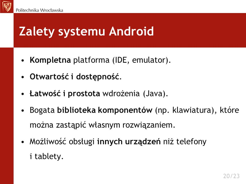 Zalety systemu Android