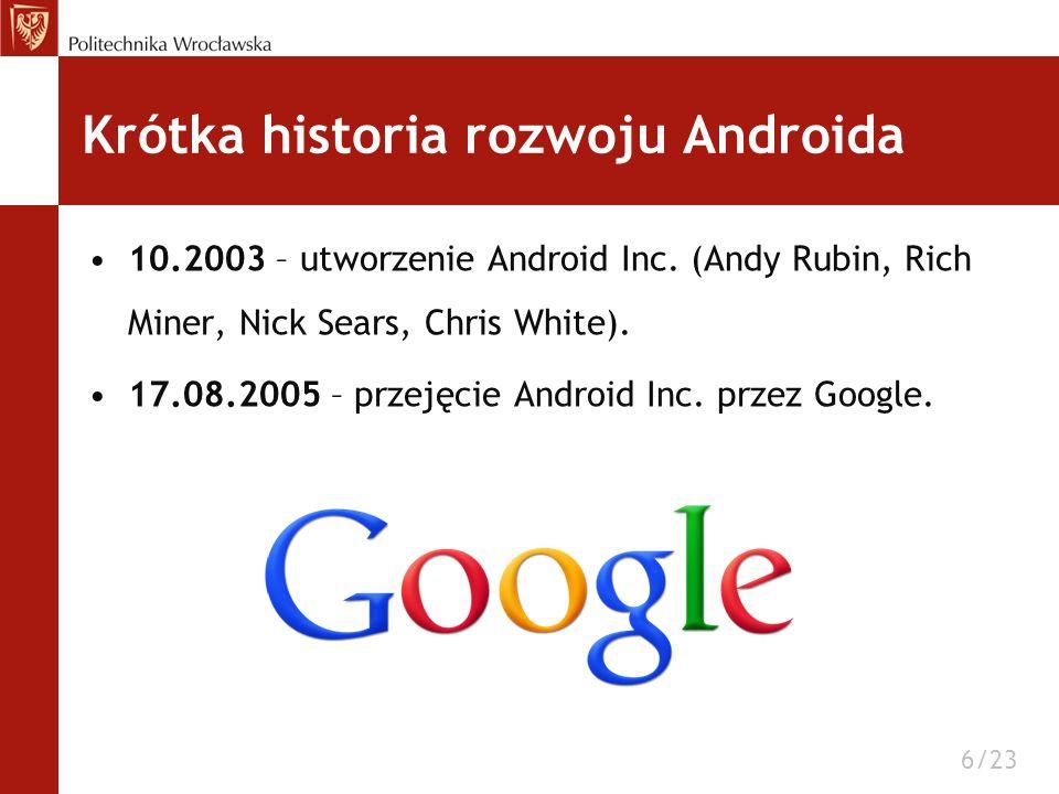 Krótka historia rozwoju Androida