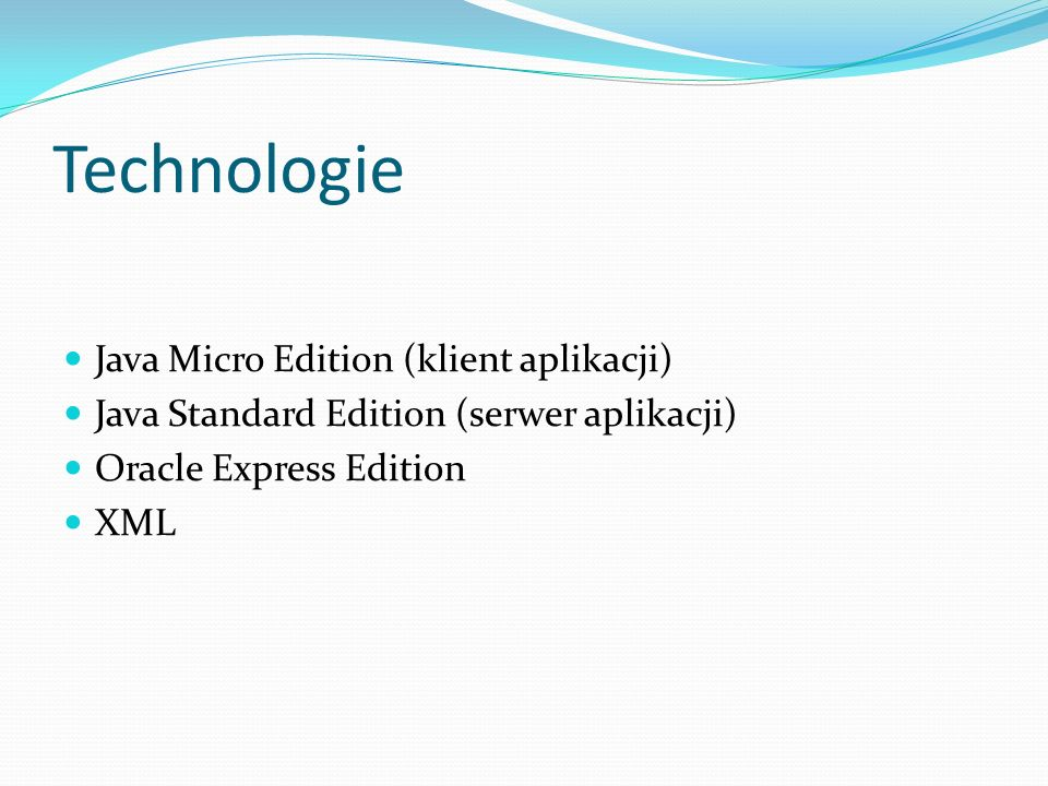 Technologie Java Micro Edition (klient aplikacji)