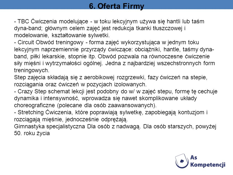 6. Oferta Firmy
