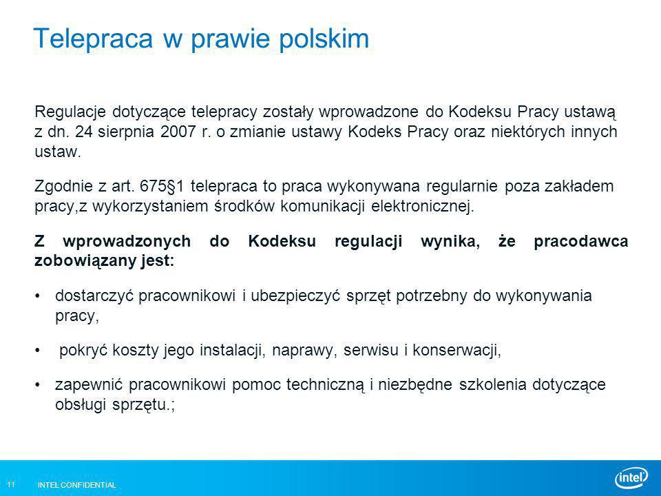 Telepraca w prawie polskim
