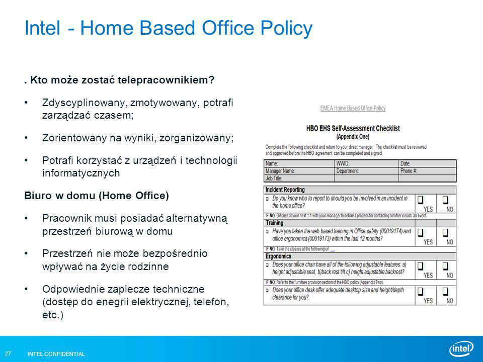 Intel - Home Based Office Policy
