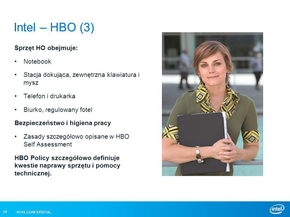 Intel – HBO (3) Sprzęt HO obejmuje: Notebook
