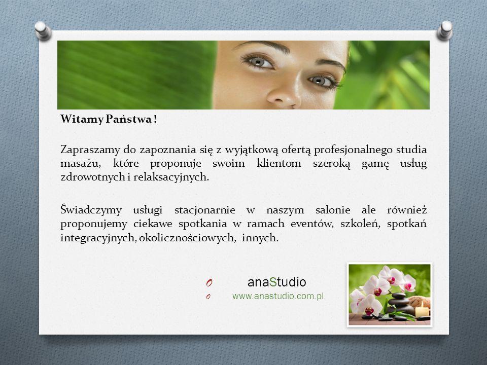 anaStudio Witamy Państwa !