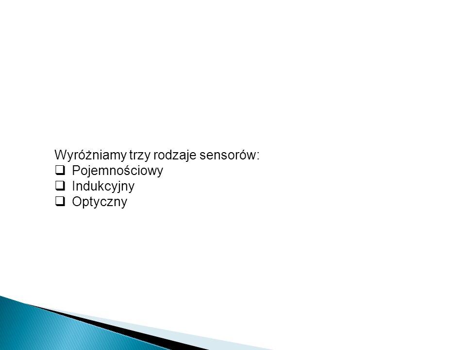 Wyróżniamy trzy rodzaje sensorów: