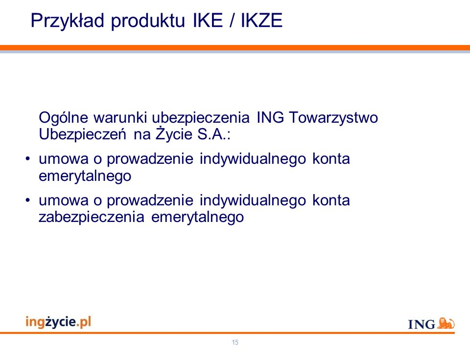 Przykład produktu IKE / IKZE