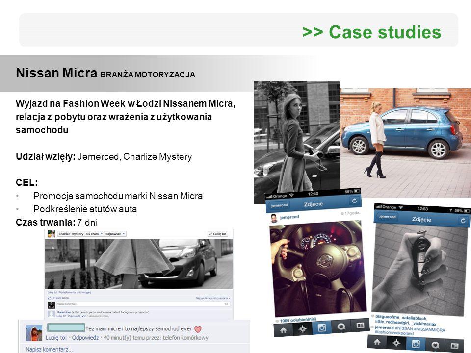 >> Case studies Nissan Micra BRANŻA MOTORYZACJA