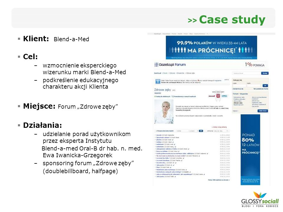 >> Case study Klient: Blend-a-Med Cel: