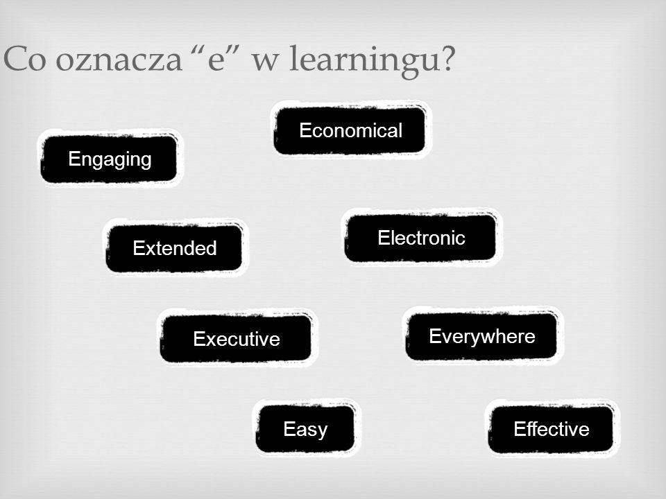 Co oznacza e w learningu