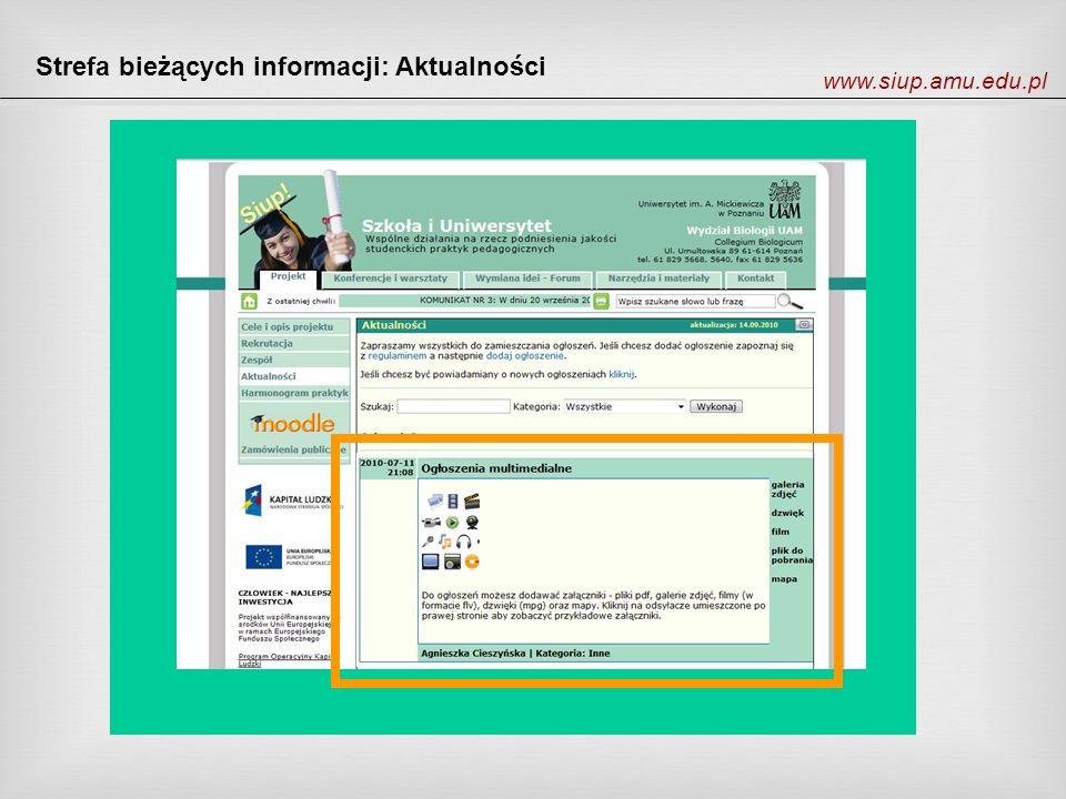 Strefa bieżących informacji: Aktualności