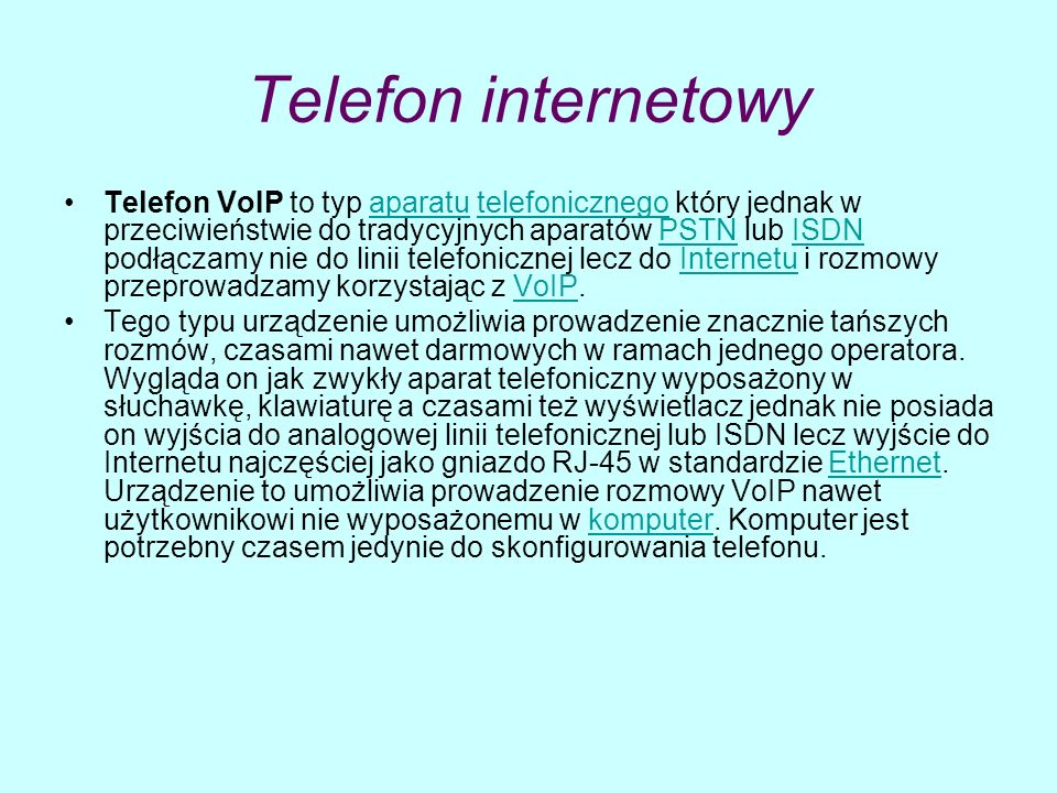 Telefon internetowy