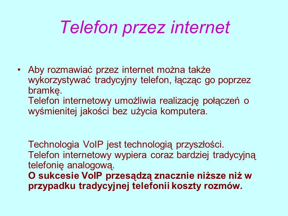 Telefon przez internet