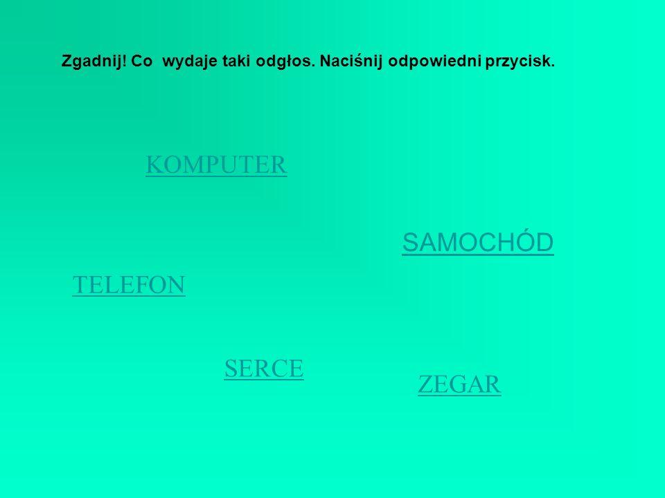 KOMPUTER SAMOCHÓD TELEFON SERCE ZEGAR