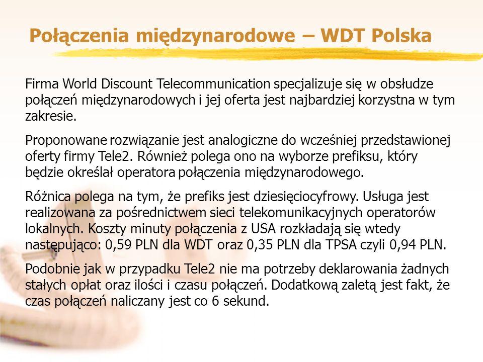 Połączenia międzynarodowe – WDT Polska