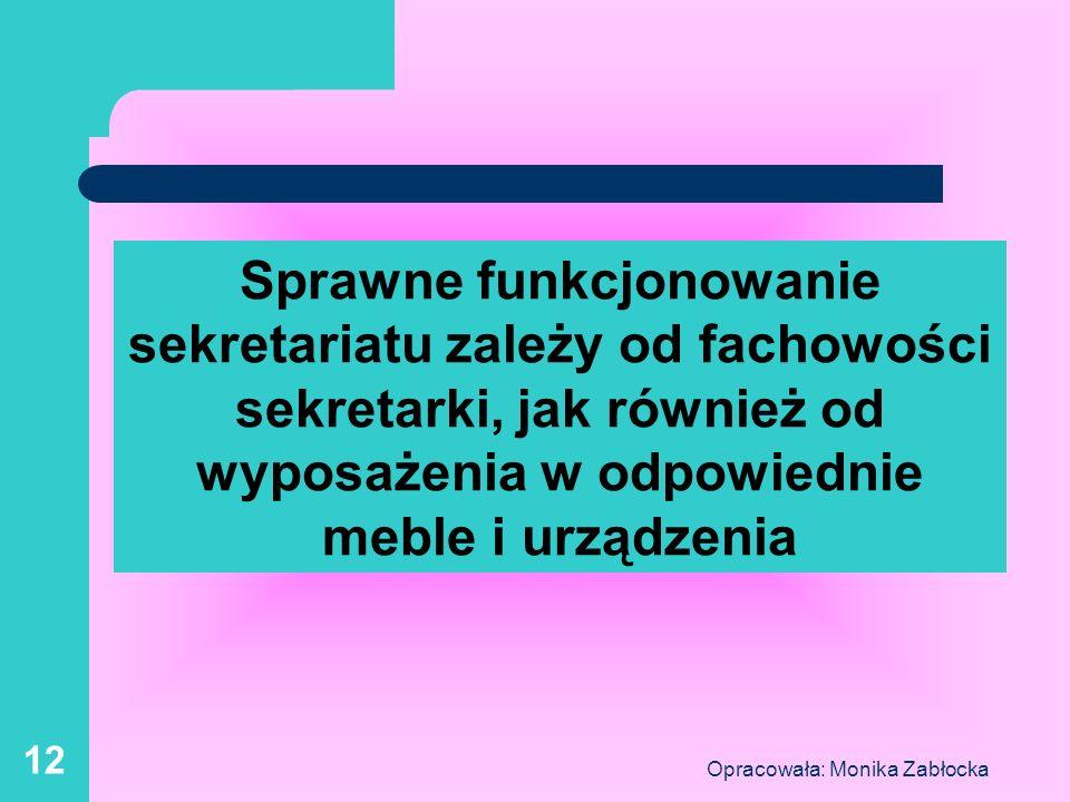 Opracowała: Monika Zabłocka