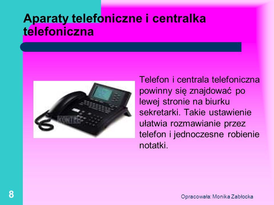 Aparaty telefoniczne i centralka telefoniczna