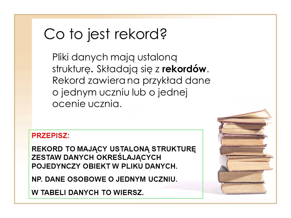 Co to jest rekord