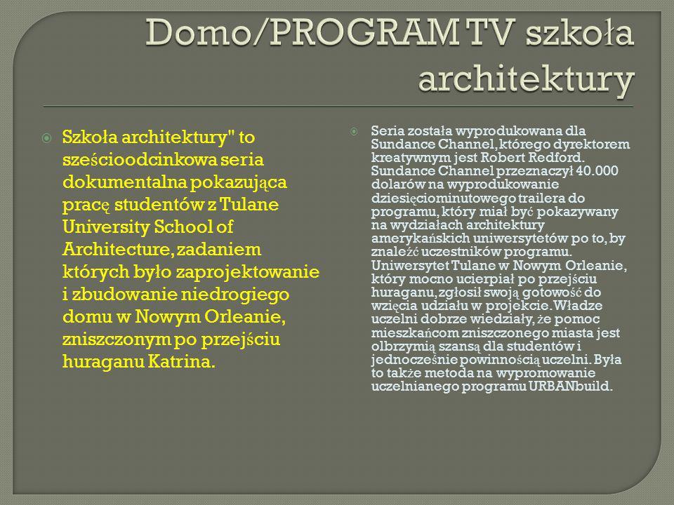 Domo/PROGRAM TV szkoła architektury
