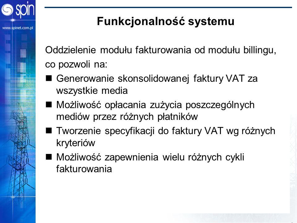 Funkcjonalność systemu