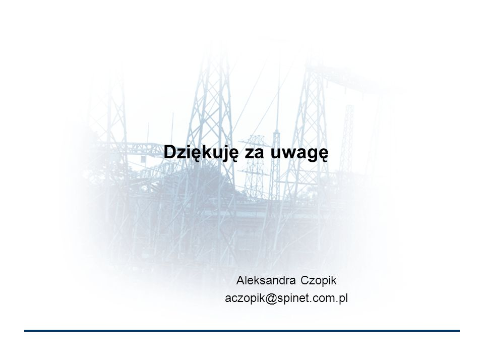 Aleksandra Czopik aczopik@spinet.com.pl