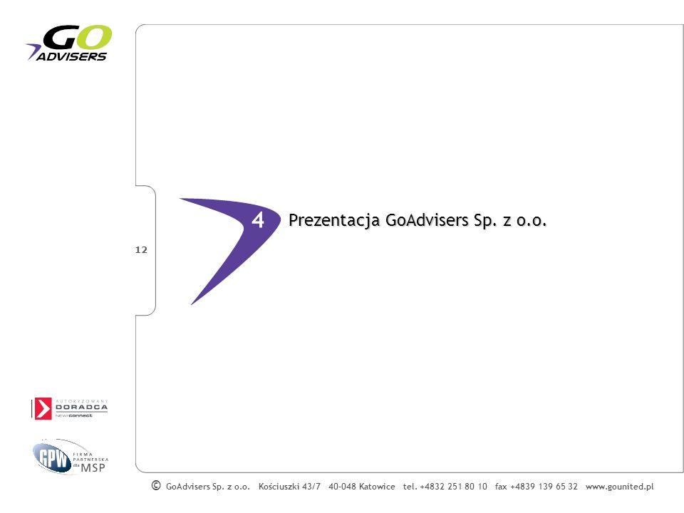 Prezentacja GoAdvisers Sp. z o.o.