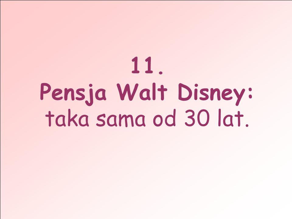 Pensja Walt Disney: taka sama od 30 lat.