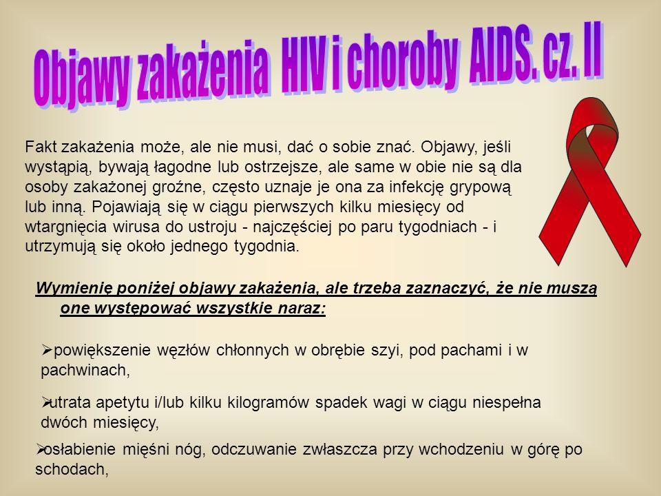 Objawy zakażenia HIV i choroby AIDS. cz. II