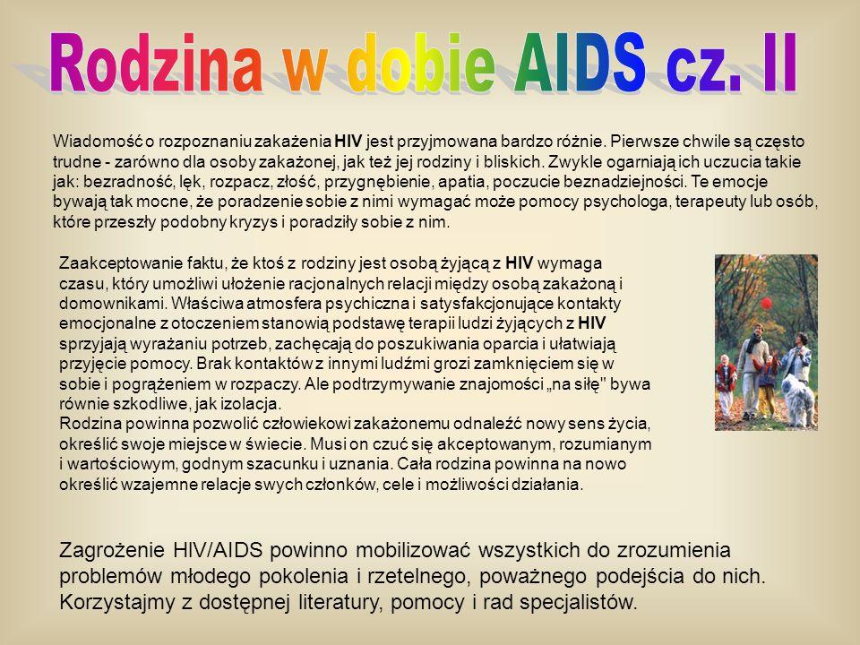 Rodzina w dobie AIDS cz. II