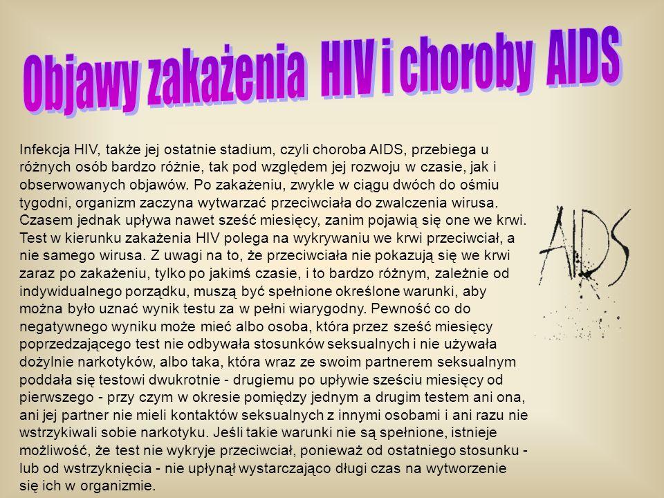 Objawy zakażenia HIV i choroby AIDS