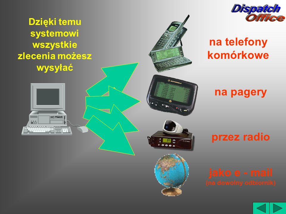 Dispatch Office na telefony komórkowe na pagery przez radio